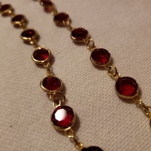 Jewelry - Red/ Gold Necklace FREE W/ BUNDLE